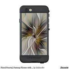 Floral Fractal, Fantasy Flower with Earth Colors LifeProof® NÜÜD® iPhone 6s Case