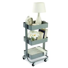 Gray Lexington 3-Tier Rolling Cart By Recollections Office Essentials, Kikki K, Filofax, Ikea Cart, Ikea 3 Tier Cart, Raskog Cart, Metal Cart, College Dorm Rooms, College Life