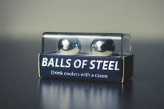 Balls of Steel whiskey chillers are stainless steel whiskey ice. 15% of your purchases support men's health research. Balls of Steel Make a great Guy's Gift!