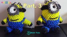 Minion en Rainbow Loom Partie 3 - Elastiques - Tuto - Tutorial - Bands