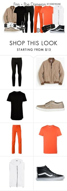 """""""Finn + Poe Dameron"""" by leslieakay ❤ liked on Polyvore featuring Topman, J.Crew, River Island, adidas, PS Paul Smith, Armani Jeans, Balmain, Vans, Timberland and men's fashion"""