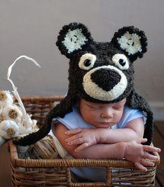 New born baby hat knitting pattern