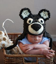 New born baby hat knitting pattern