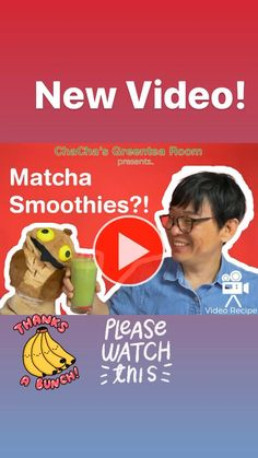 Matcha Drink, Matcha Smoothie, Fruit Smoothie Recipes, Smoothie Diet, Healthy Smoothies, How To Make Matcha, How To Make Tea, Green Tea Recipes, Green Tea Latte