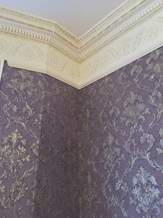 lincrusta paint effect in westminster london: We were contacted by a client in Westminster to hang Lincrusta and to apply a paint effect but as we were. Anaglypta Wallpaper, Hallway Wallpaper, Textured Wallpaper, Hanging Drapes, Paint Effects, Beautiful Wall, Westminster, Victorian Homes, Painting Techniques
