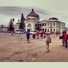 The Grand Old Dame of Maputo: The old train station. - @Greg Lomas- #webstagram