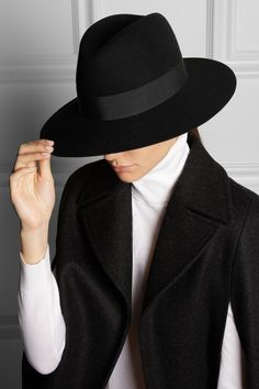 Saint Laurent - Rabbit-felt fedora 9d1498c63fe