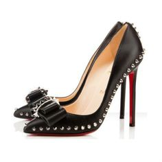 Christian Louboutin Black Bow 120mm pumps
