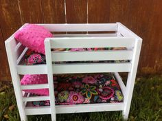 Bunk bed to fit American Girl dolls and other 18-inch dolls. Includes 2 mattresses and 2 pillows. on Etsy, $100.00 Journey Girls, Girl Things, Mattresses, Doll Stuff, 18 Inch Doll, Diy Doll, Cassie, Girl Dolls, Bunk Beds