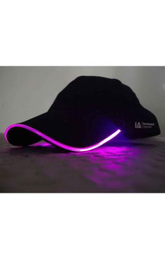 Illuminated Apparel Purple Light Up Cap This quirky cap from Illuminated Apparel features an awesome purple colour LED strip around the brim. With two different speed settings, the flashing lights. Light Purple, Light Up, Gothic Outfits, Led Strip, Alternative Fashion, Cyber, Cap, Colour, My Style