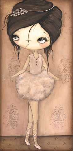 Ballerina Print 5 x 10 by thepoppytree on Etsy.