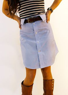 chemise d'homme en jupe