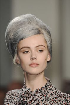 Frida Gustavsson at Jean Paul Gaultier during Paris Fashion Week