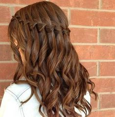 waterfall braid but really I pinned it for the hair color