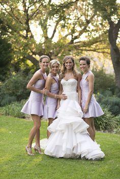 vestido de la dama de honor por  color lila
