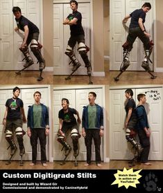 Some photos of my new digitigrade stilts built by the talented WizardGir/~BalthezarArith >>>CLICK TO GO WATCH THEM IN ACTION!<<< Gir has made several pairs over the past few years...