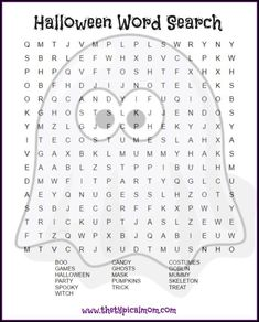 Here are several free Halloween word search printables pages you can give your kids or students! LOTS of free Halloween printable pages here. via /thetypicalmom/ halloween printables Halloween Puzzles, Halloween Word Search Printables, Halloween Worksheets, Halloween Words, Halloween Crafts For Kids, Halloween Activities, Holiday Activities, Holidays Halloween, Halloween