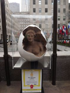 A woman inside a Faberge...one of the most interesting of all the eggs.
