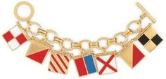 """ShopStyle: Nautical Flags """"I Love You"""" Charm Bracelet"""