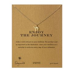 enjoy+the+journey+camel+necklace,+gold+dipped+$58