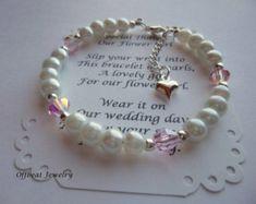 Personalizada la muchacha de flor pulsera de la perla niña de