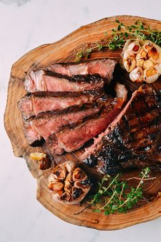 Soy Butter Glazed Steak - A simple steakhouse-style rib-eye steak is doused in and served with a soy sauce and butter glazed for a perfectly rich salty, caramelized flavor. | honestcooking.com