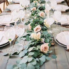 """29 Likes, 6 Comments - Event Planner and Stylist (@_isntitlovelyevents) on Instagram: """"Table inspiration.. #isntitlovelyevents #foliagegarland #huntervalleyweddingplanner…"""""""