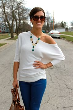 Off-the shoulder sweaters for spring