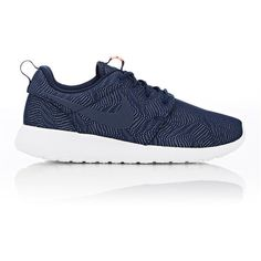 Nike Roshe One Moire Sneakers featuring polyvore women's fashion shoes sneakers colorless laced shoes cushioned shoes embroidered shoes round cap round toe sneakers