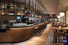 HEKKER  Interieurbouw - Gouds glas - TOOKO – Inspiratie voor een exclusieve werkomgeving Ramen, Conference Room, Restaurant, Bar, Table, Furniture, Home Decor, Homemade Home Decor, Diner Restaurant