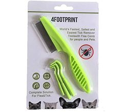 Tick Remover With Flea Comb - Remove Fleas For Your Pet With 3 Size Of Tick Remover, Grooming With Flea Comb - No Pain - Easily To Remove Fleas >>> Find out more about the great product at the image link. (This is an affiliate link) Flea Powder For Dogs, Flea Spray For Dogs, Natural Flea Spray, Natural Flea Control, Flea Control For Dogs, Dog Flea Treatment, Tick Removal, All Breeds Of Dogs, Tick Control