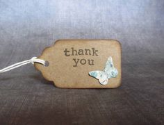 10 Thank You Tags Gift Tags Butterfly Tags Shabby by CatchSomeRaes, $3.00