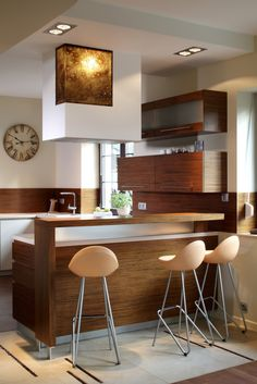 Modern Eat-In Kitchen Ideas (Kitchen design ideas in Decoration, Lighting, and Remodeling for eat-in kitchen style) Small Modern Kitchens, Modern Kitchen Design, Beautiful Kitchens, Kitchen Designs, Kitchen Ideas 2018, Small Kitchen Ideas On A Budget, Apartment Kitchen, Kitchen Interior, Semarang