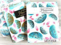 Ombre Stamping with Catherine Pooler Inks and Mudra Stamps