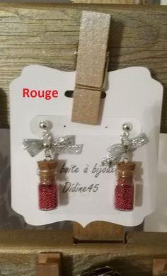 Boucles d'oreille fioles et micro bille. Modèle unique : Autres breloques par didine45