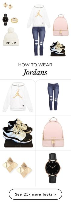 """Untitled #2479"" by silentpoetgeek on Polyvore featuring NIKE, MICHAEL Michael Kors, Valentino, Topshop, Kobelli and Kate Spade"