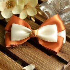 美好愿望 手工蝴蝶结发夹发饰发卡头饰顶夹 橘色可爱头饰-淘宝网