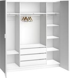 Cechy i korzyści: Funkcjonalne wnętrze i półki z regulowaną wysokością (w szafie 206 są 4 półki z prawej strony, a w szafie 240 i 260 jest 5 półek oraz dodatkowa półka nad szufladami). Do dokupienia ...