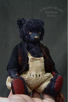 "Buckthorn, 6 1/2"" Mohair Bear from Aerlinn Bears"