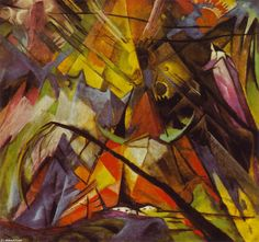 'Tyrol', Oil On Canvas by Franz Marc (1880-1916, Germany)