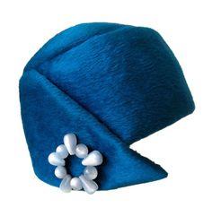 1950's Christian Dior Blue Hat.