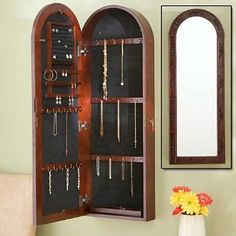 SALE!! Southern Enterprises Arbor Wall Mount Jewelry Armoire - Dark Cherry REVIEW