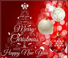 merry christmas and new year 2016 wishes card