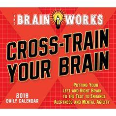Brain Works Cross-Train Brain 2018 Desk Calendar