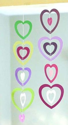 Cute hanging hearts