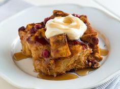 Pumpkin and Cranberry Breakfast Strata Recipe from Betty Crocker. Yum