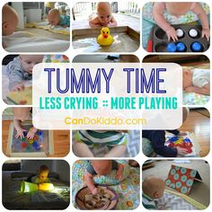 Start as early as a week old! Play ideas to make Tummy Time more fun and less…