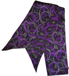 Women's Coach Daisy Ocelot Print Ponytail / Neck Scarf Double Sided Purple Coach. $59.00