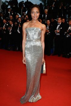 Naomie Harris at Cannes. I've seen a variation of this dress on a few red carpets, and I lust after it every time.