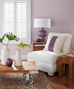 benjamin moore victorian mauve is a soft yet bright purple paint colour great with white accents